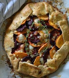 Sweet Potato and Beet Galette with Gorgonzola Cheese and Thyme | fooddino