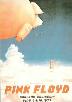 Pink Floyd at Oakland Coliseum - May 1977 concert poster