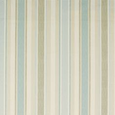 Awning Stripe Cotton Linen Fabric Duck Egg   Laura Ashley USA - The basic color scheme of the entire house? Sage green on bead board, white woodwork, taupe walls and blue/turquoise as an accent color. What do you think?