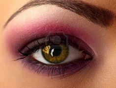purple & pink eye shadow