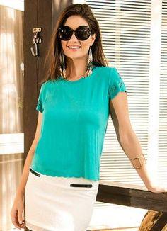 Blusa Viscose Verde Miss Masy - Posthaus