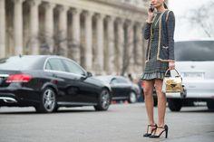 Giovanna Battaglia in Chanel | PFW