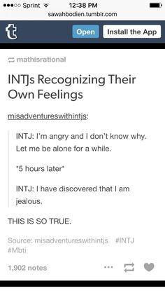 """This is so true. """"I don't know what I'm feeling, let me think about it."""""""
