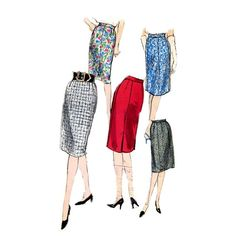 60s wiggle skirt vintage sewing pattern Vogue 5588