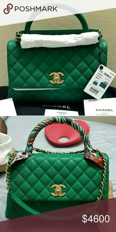 785665ce4865 Chanel Coco Handle Used twice, still brand new, have reciept & tag. Sell  with a hermes twilly cost $180. CHANEL Bags