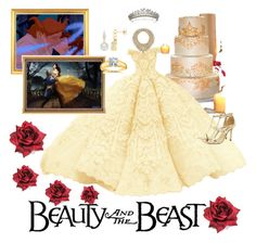 """Beauty and the beast wedding"" by omariangelis-navarro ❤ liked on Polyvore featuring Disney, Dee Keller and Kobelli"