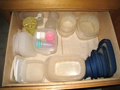 How to Organize Empty Food Storage Containers and Lids -- via wikiHow.com