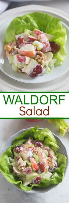 A traditional Waldorf Salad with crisp apples, grapes, celery and walnuts in a creamy dressing. | Tastes Better From Scratch