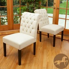 Christopher Knight Home Ivory Fabric Dining Chairs (Set of 2) | Overstock.com Shopping - Great Deals on Christopher Knight Home Dining Chairs