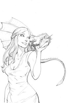 Daenerys Targaryen From Game Of Thrones Coloring Page Pin Up Girls Category Select