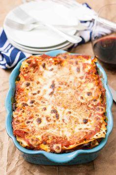 Ricotta, Pecorino, & Mozzarella Lasagne with Mushrooms & Broccoli {Via Meatless Lasagna, Vegetarian Lasagna Recipe, Veggie Lasagna, Lasagna Recipe With Ricotta, Mushroom Broccoli, How To Make Lasagna, Mozzarella, Thing 1, Pasta
