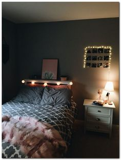 Room decor - 40 The Biggest Myth About Simple Bedroom Ideas For Small Rooms simplebedroomideas bedroomideasforsmallrooms biggestbedroomideas com Cute Bedroom Decor, Cute Bedroom Ideas, Teen Room Decor, Small Room Bedroom, Girls Bedroom, Bedroom Inspo, Bedroom Ideas For Small Rooms For Teens For Girls, Adult Bedroom Ideas, Bedroom Themes