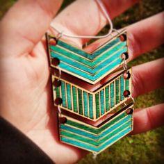 Geometric style laser cut plywood pendant from beamsandbobbins.co.uk