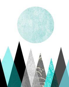 Blue Abstract Art Geometric Prints Set of 3 Prints Geometric Wall Art, Geometric Prints, Geometric Designs, Geometry Art, Affordable Wall Art, Scandinavian Art, Typography Prints, Blue Abstract, Wall Art Designs