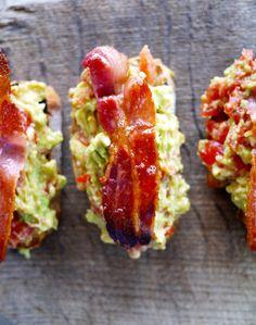 Avocado bacon toast, substitute for GF bread and turkey bacon