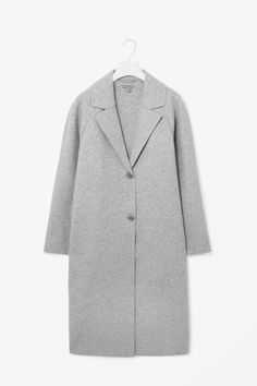 Clean-edge wool coat