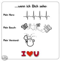 Wenn ich Dich sehe... Love You So Much, My Love, Famous Love Quotes, Life Partners, Insurance Quotes, Forever Love, Relationships Love, Love Life, Cool Words