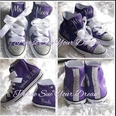 Personalized Custom Bridal Crystal Converse Wedding Shoes - Swarovski Crystal Wedding Shoes - Swarovski Converse Wedding Shoes - Bride To Be Rhinestone Converse, Converse Wedding Shoes, Bling Converse, Converse Shoes, Wedding Sneakers, Shoes Sneakers, Yeezy Shoes, Trendy Shoes, Cute Shoes
