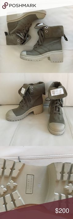 Marc by Marc Jacobs combat boots Super cute fold down army green combat boots. NWOT never worn with no markings or blemishes. Thick sole and slight heel. Label printed on tongue. Marc by Marc Jacobs Shoes Combat & Moto Boots