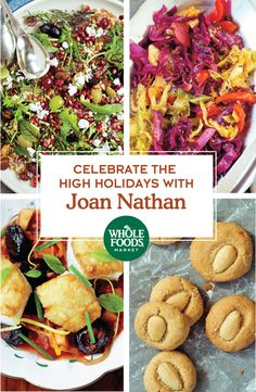 Order Joan Nathan's ready-made dishes for your High Holiday celebrations, Rosh Hashanah and Yom Kippur. Choose from a selection of Joan's favorite recipes like her Seven Sacred Species Salad, Sweet and Crunchy Kugel, Slightly Sweet and Sour Cabbage, Cod with Tomatoes, Plums, Apples and Pine Nuts, and Tahina Cookies. Available in our Mid-Atlantic region.