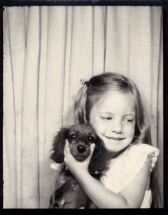 Girl with beloved pet dog