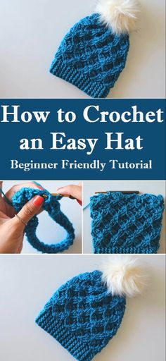 Crochet an Easy/Beginner Friendly Hat Crochet an Easy/Beginner Friendly Hat,Crafting Time The colder days are coming so we better star our preparation by crocheting this cute and very easy hat Related Ideas For. Easy Crochet Hat, Crochet Beanie Pattern, Learn To Crochet, Crochet Crafts, Diy Crafts, Crochet Hat Tutorial, Crochet Adult Hat, Wire Crochet, Crocheted Hats