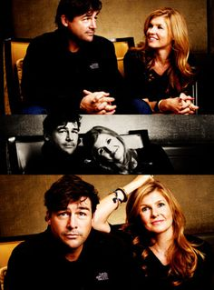 Eric and Tami Taylor from Friday Night Lights. Most realistic and wonderful TV couple ever.