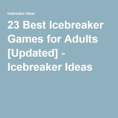 Ice breaker questions for adults hookup teenagers boys christmas