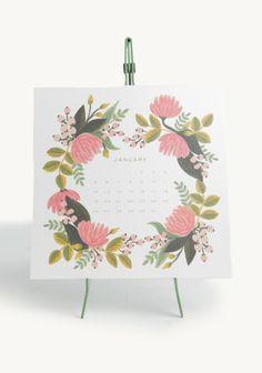 Botanical Desk Calendar By Rifle Paper Co. by: ShopRuche.com @Michelle Flynn Coleman Ruche