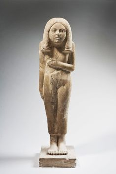 Statue of a standing woman (The Lady of Brussels) Probably late Dynasty 2 (ca. 2695– 2649 BC)