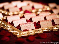 indian wedding reception decor stationary http://maharaniweddings.com/gallery/photo/4635