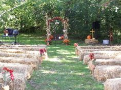 Simple Outdoor Fall Wedding