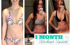 One month workout progress