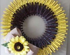 Rustic Distressed Clothespin Wreath by PintasticWreaths on Etsy