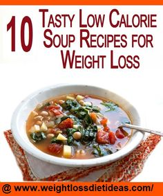 Low Calorie Soup Recipes for Weight Loss