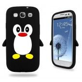 Black Lovely 3D Penguin Silicone Case Cover for Samsung Galaxy S3 SIII S III i9300