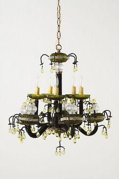 Saturated Dewdrops Chandelier #anthropologie