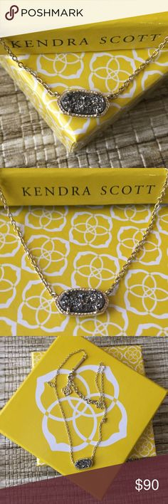 🤗💕KENDRA SCOTT Small Pyrite Silver Gold Necklace Beautifully stunning NWOT Kendra Scott Jewelry Necklaces