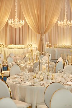 An Elegant White and Gold Wedding? Yes, Please An Elegant White and Gold Wedding? An Elegant White and Gold Wedding? Yes, Please An Elegant White and Gold Wedding? Quince Decorations, Quinceanera Decorations, Gold Wedding Decorations, Wedding Centerpieces, Table Decorations, White And Gold Wedding Themes, Gold Wedding Gowns, White Gold Weddings, Wedding White