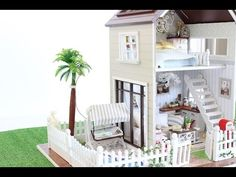 *NEW* DIY DOLLHOUSE PARIS MINIATURE APARTMENT FOR 1:32 Dolls. - YouTube