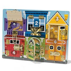 melissa & doug locks and latches board - i've seen a diy around here somewhere