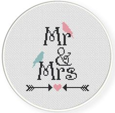 mr and mrs cross stitch pattern - Google Search