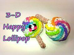 3-D Happy Lollipop Tutorial by feelinspiffy (Rainbow Loom)