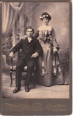 Newlyweds, around 1900  Fall River, Massachusetts USA