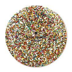 Kate Spade New York Glitter Coaster Set  ---   GREAT DIY IDEA