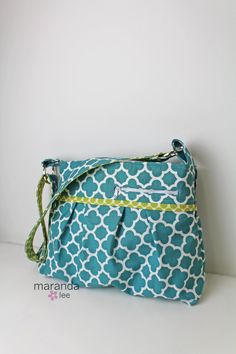 READY to SHIP Stella DELUXE Diaper Bag Medium Teal by marandalee nappy bag baby gear