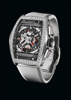 CVSTOS Chrono Steel with Diamonds