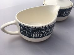Blue currier and Ives by Taylor Smith creamer by HollyWouldFind on Etsy