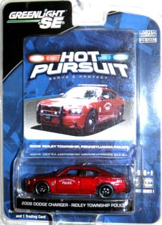 2008 Dodge Charger Ridley Township PA Police Greenlight Hot Pursuit 1:64 Scale