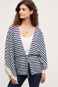 8842e934d812 KW FASHION x Anthropologie | SS 2017 Stripe Kimono Miami Fashion, Linen  Dresses, Coats